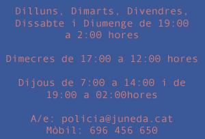 horaris policia