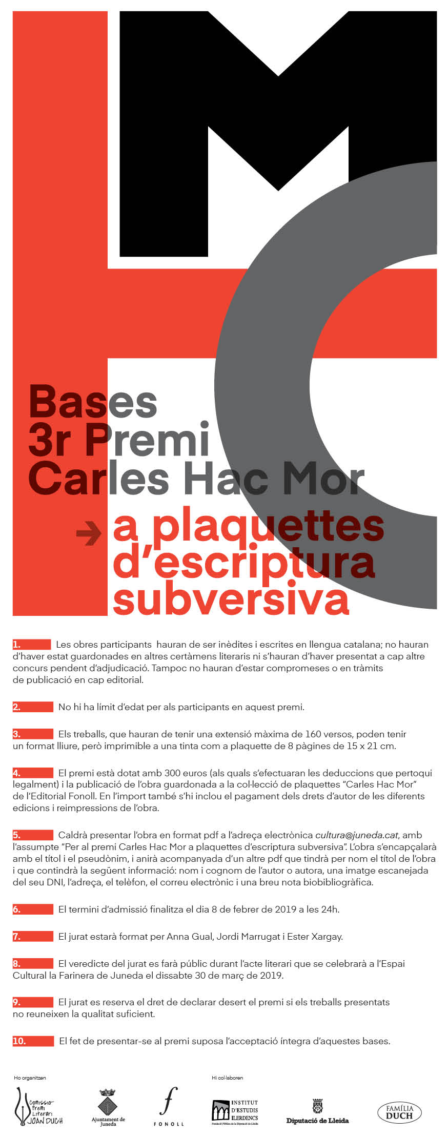 Bases Premi Carles Hac Mor 2019