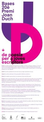 Bases Premi Poesia Joan Duch 2019