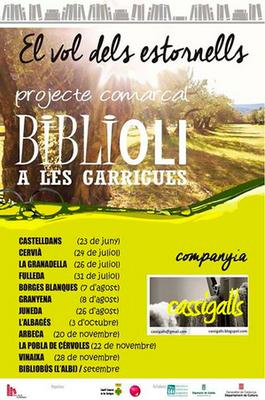 """""""El vol dels estornells"""" arribaràa Juneda el 26 d'agost dins el projecte Biblioli"""