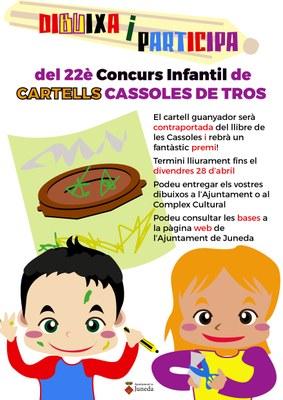 22è Concurs Infantil de Cartells de les Cassoles de Tros