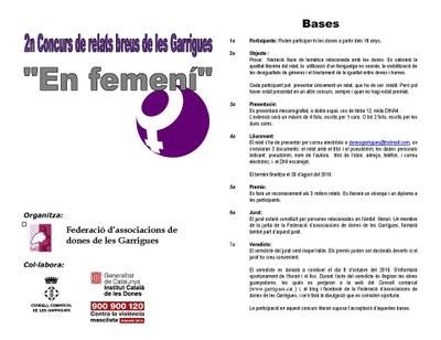 2n Concurs de relats breus de Les Garrigues