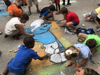 33è Concurs de dibuix mural a terra