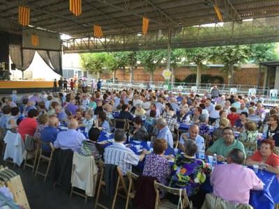 Actes de la Diada 2015 - Berenar organitzat pel Casal de la Gent Gran