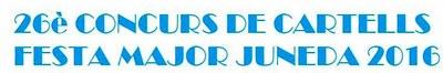 Bases 26è Concurs de Cartells Festa Major Juneda 2016