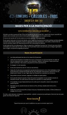 BASES del 43è CONCURS DE CASSOLES DE TROS