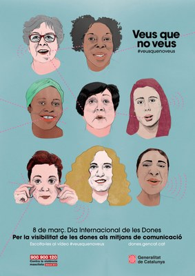 Campanya de l'Institut Català de les dones per al 8 març de 2018: #veusquenoveus