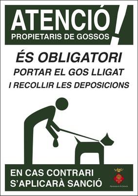 Campanya de Sensibilització dirigida als propietaris de gossos