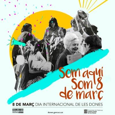 Campanya del 8 març de 2019 del ICD: #SomAquí #Som8deMarç