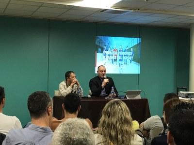 Carles Folguera, director de la Masia del Barça, al Complex Cultural