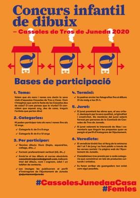 CASSOLES DE TROS - concurs infantil de dibuix