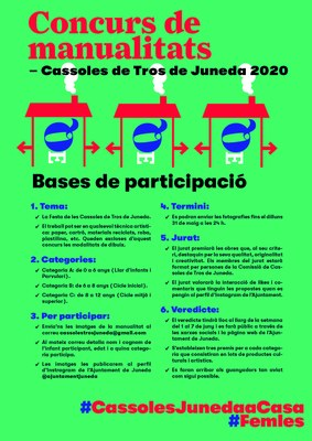 CASSOLES DE TROS - concurs infantil de manualitats