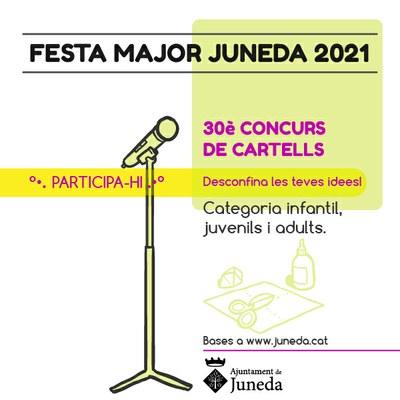 CONCURS DE CARTELLS - FESTA MAJOR de JUNEDA 2021