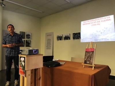 Conferència sobre els Bombardejos a les terres de Lleida a càrrec de Josep Rubió al Complex Cultural de Juneda