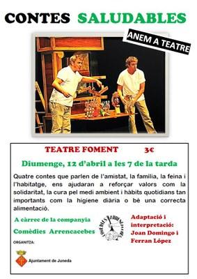 """""""Contes saludables"""", una obra infantil el diumenge 12 al Teatre Foment"""