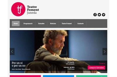 Descobriu la nova web del Teatre Foment