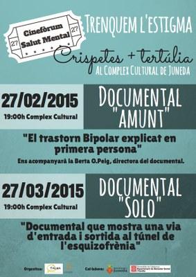 Doble sessió de cinefòrum sobre salut mental al Complex Cultural de Juneda
