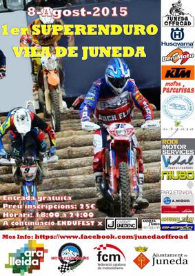 El 1er Superenduro Vila de Juneda, el dissabte 8 d'agost