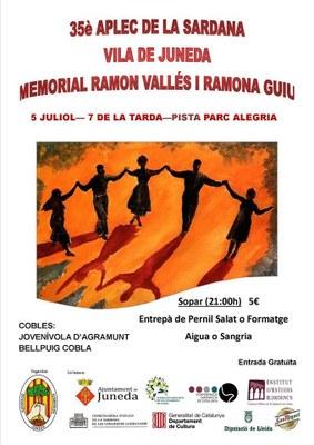 El 35è Aplec de la Sardana Vila de Juneda, el 5 de juliol