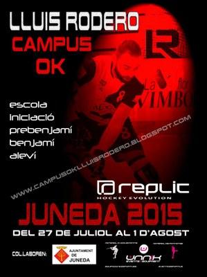 El Lluís Rodero Campus-OK Juneda 2015 comptaràamb un planter de monitors de luxe de l'OK Lliga