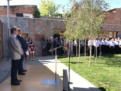 El president Quim Torra inaugura el Parc U d'octubre de Juneda