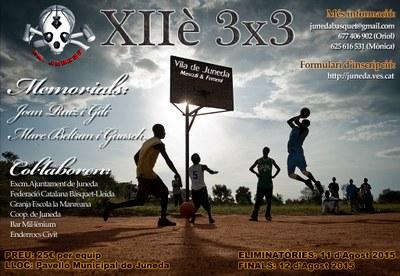 El XIIè 3x3 Vila de Juneda de bàsquet, els dies 11 i 12 d'agost al Pavelló Municipal