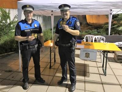 Els guàrdies municipals de Juneda col·laboren amb l'Hospital San Joan de Déu