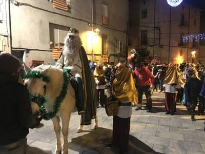Els reis arriben a Juneda amb cavall