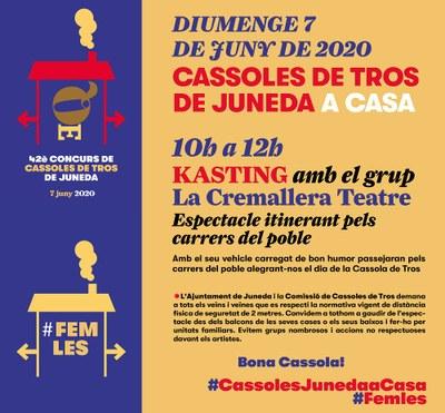 Espectacle itinerant de la Cremallera per les Cassoles