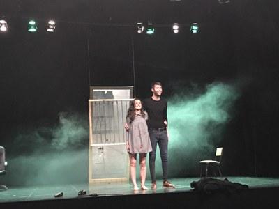 Estrena de 'Tonta' d'Albert Baldomà, al Teatre Foment de Juneda