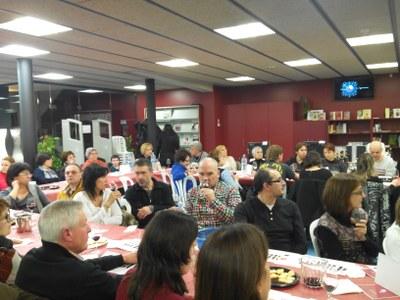 Èxit de participació al tast de vins Tomàs Cusiné a la Biblioteca