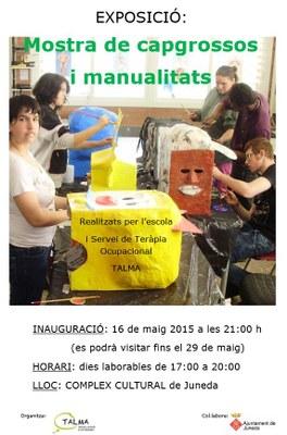 Exposició de capgrossos i manualitats de Talma del 16 al 29 de maig