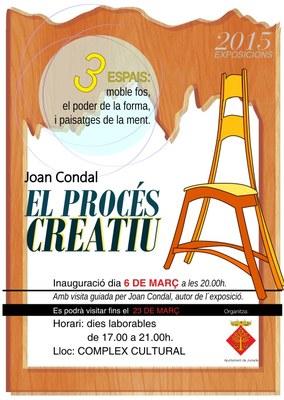 Exposició de Joan Condal del 6 al 23 de març al Complex Cultural