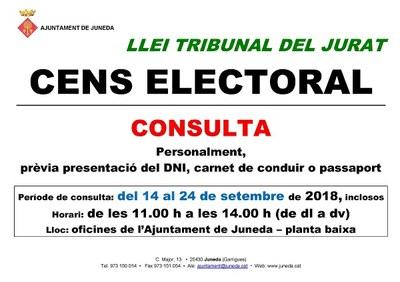 Exposició pública de la llista del cens electoral per al tribunal del jurat popular