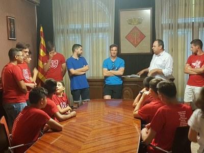 Felicitació de l'Ajuntament de Juneda als jugadors de l'escola Intercomarcal