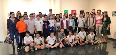 Inauguració de l'exposició d'obres dels alumnes de 6è de l'escola Manuel Ortiz de Juneda