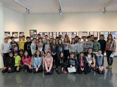 Inauguració de l'exposició de les obres dels alumnes de l'escola Manuel Ortiz