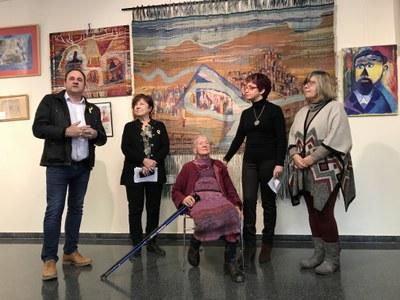 Inauguració de l'exposició de l'Edith Schaar a Juneda