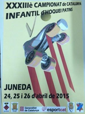 Juneda acolliràa l'abril el Campionat de Catalunya Infantil d'hoquei patins