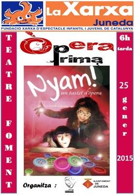 """L'espectacle familiar """"Nyam! Un tastet d'òpera"""", el diumenge 25 al Teatre Foment"""