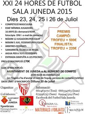 La 21a edició de les 24 Hores de Futbol Sala de Juneda, del 23 al 26 de juliol