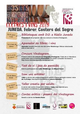 La Biblioteca de Juneda ja ho té tot a punt per a la Setena edició de 'Biblioteques amb DO'