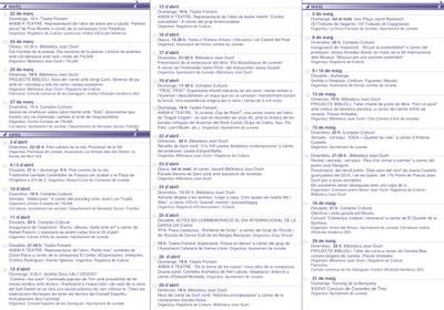 La Primavera Cultural oferiràun calendari ple d'activitats (part 1: març-abril-maig)