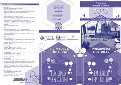 La Primavera Cultural oferiràun calendari ple d'activitats (part 2: juny)