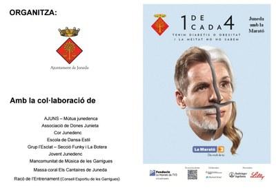 L'Ajuntament de Juneda col·labora amb la Marató de TV3