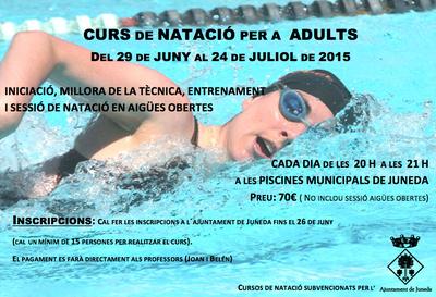 Les piscines acolliran un curs de natació per a adults