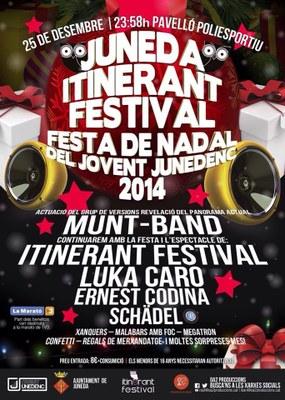 """No et perdis la gran Festa de Nadal del Jovent– """"Juneda Itinerant Festival"""" el dia 25 de desembre"""