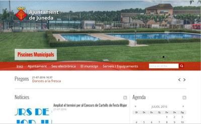 Nova Web de l'Ajuntament de Juneda