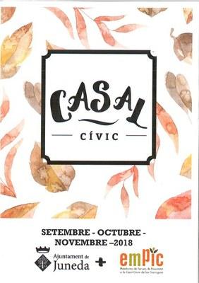 Programació del Casal Cívic dels mesos d'Octubre i Novembre
