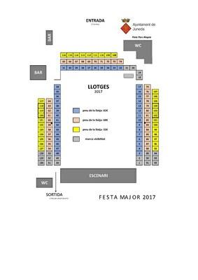 Reserva de Llotges per a la Festa Major 2017